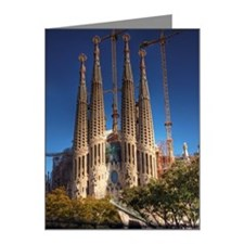 Barcelona sagrada familia Note Cards (Pk of 10)