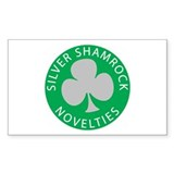 Silver Shamrock Rectangle  Aufkleber