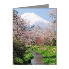 Spring of Mount Fuji Note Cards (Pk of 10)