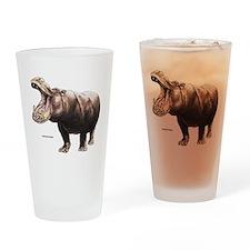 Hippopotamus Animal Drinking Glass