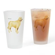 Golden Retriever Dog Drinking Glass