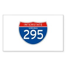 Interstate 295 - VA Rectangle Decal