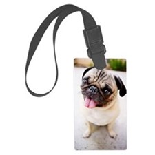 Cute pug Luggage Tag