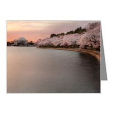 Jefferson memorial and cherr Note Cards (Pk of 10)