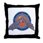 San Bernardino Cave Rescue Throw Pillow