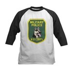 Military Police Canine Kids Baseball Jersey