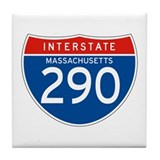 Interstate 290 - MA Tile Coaster