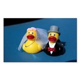 Two rubber ducks dressed as br Decal