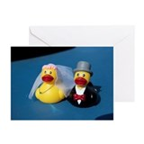 Two rubber ducks dressed Greeting Cards (Pk of 10)