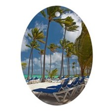 Bavaro Beach Ornament (Oval)