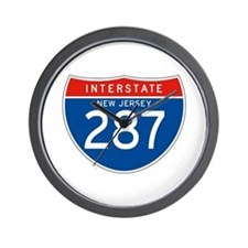 Interstate 287 - NJ Wall Clock