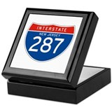 Interstate 287 - NJ Keepsake Box