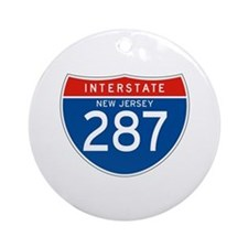 Interstate 287 - NJ Ornament (Round)