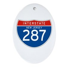 Interstate 287 - NJ Oval Ornament