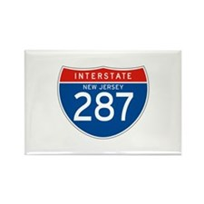 Interstate 287 - NJ Rectangle Magnet