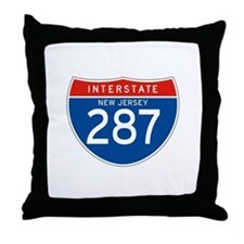 Interstate 287 - NJ Throw Pillow