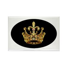 Fleur de lis Crown Jewels Rectangle Magnet (10 pac