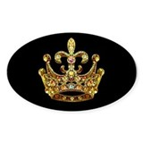 Fleur de lis Crown Jewels Oval Decal