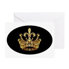 Fleur de lis Crown Jewels Greeting Cards (Package