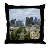 Paris Skyline and La Defense, Paris,  Throw Pillow