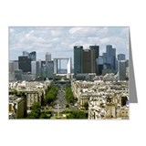 Paris Skyline and La Defense Note Cards (Pk of 20)