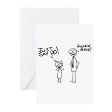 Just Say Ho! Greeting Cards (Pk of 10)