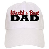 World's Best Dad White Baseball Baseball Cap