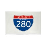 Interstate 280 - CA Rectangle Magnet (10 pack)