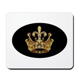 Fleur de lis Crown Jewels Mousepad