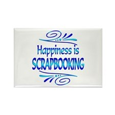 Happiness is Scrapbooking Rectangle Magnet