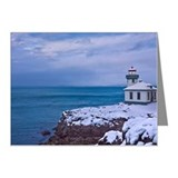 Lighthouse in Winter Note Cards (Pk of 20)