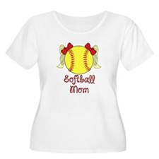 Softball mom blonde Plus Size T-Shirt