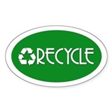 RECYCLE Oval Decal