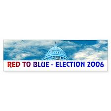 RED TO BLUE Bumper Bumper Sticker