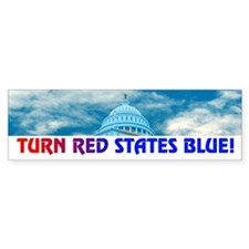 TURN RED STATES BLUE! Bumper Bumper Sticker