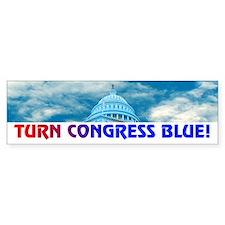 TURN CONGRESS BLUE! Bumper Bumper Sticker