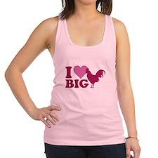 I Love Big Racerback Tank Top