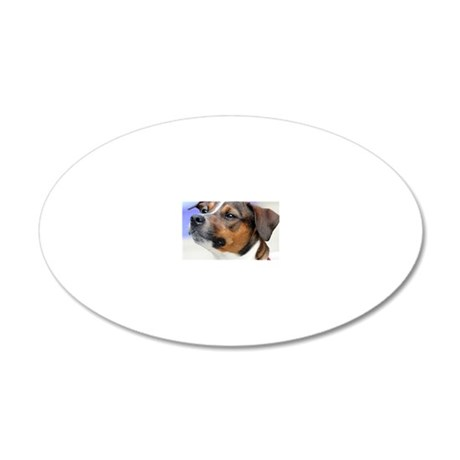 Jack Russell terrier 20x12 Oval Wall Decal