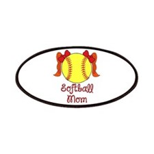 Softball mom red head Patches