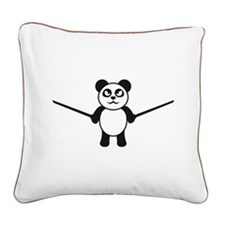cute_panda_ninja Square Canvas Pillow