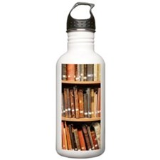 Old books in library Water Bottle