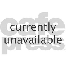 Miniature poodle sitting on wooden b Greeting Card