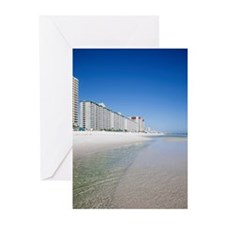 Beach front hotels at Pa Greeting Cards (Pk of 10)