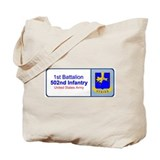 1st Battalion 502nd Infantry Tote Bag
