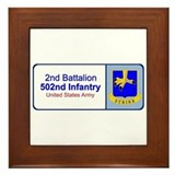 2nd Battalion 502nd Infantry Framed Tile