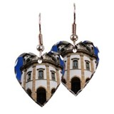 Church of Our Lady of the Rosa Earring Heart Charm