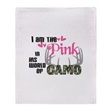 In the Pink Throw Blanket