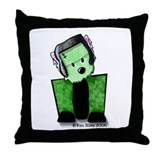 FrankenWestie Throw Pillow