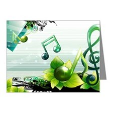 Musical note vector Note Cards (Pk of 10)