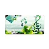 Musical note vector Aluminum License Plate